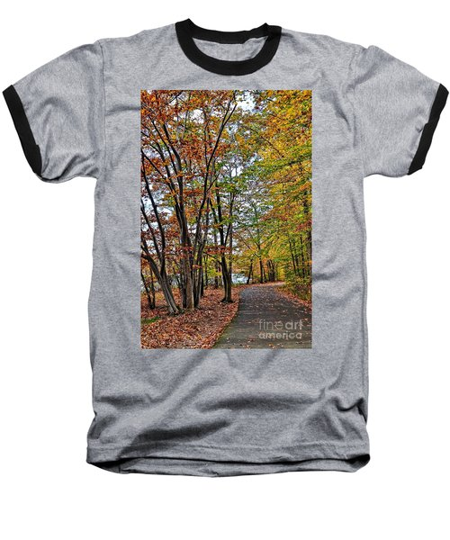 Baseball T-Shirt featuring the photograph Autumn Bliss by Gina Savage