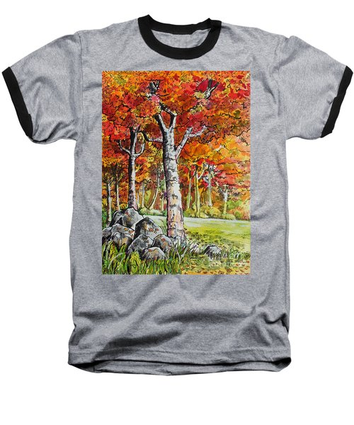 Autumn Bloom Baseball T-Shirt