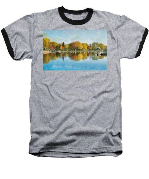 Autumn Blues Baseball T-Shirt