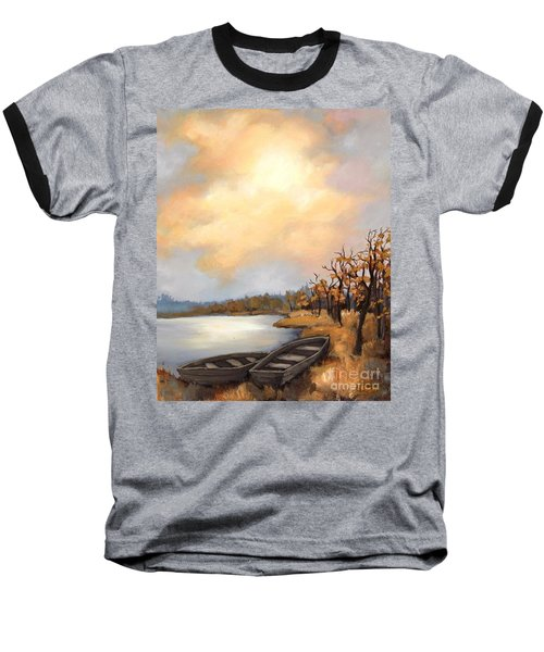 Autumn Boats Baseball T-Shirt