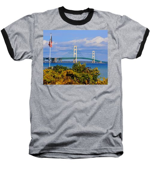 Autumn Bridge Baseball T-Shirt