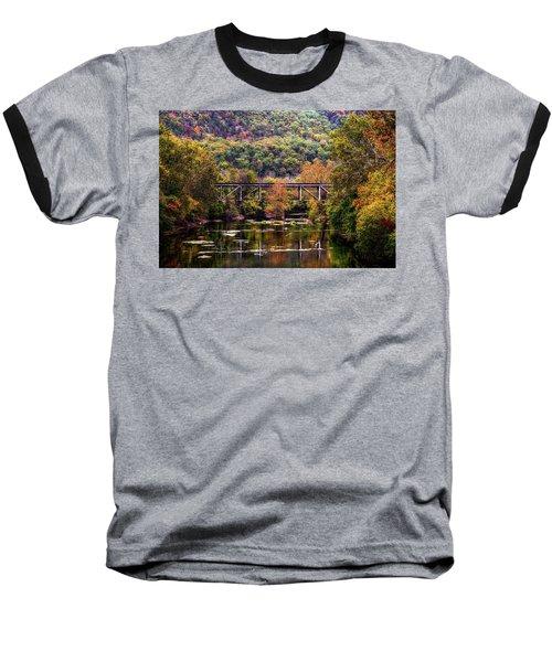 Autumn Bridge Baseball T-Shirt