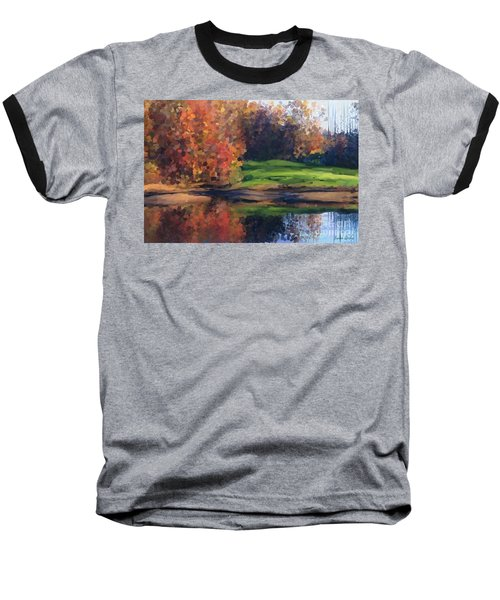 Autumn By Water Baseball T-Shirt