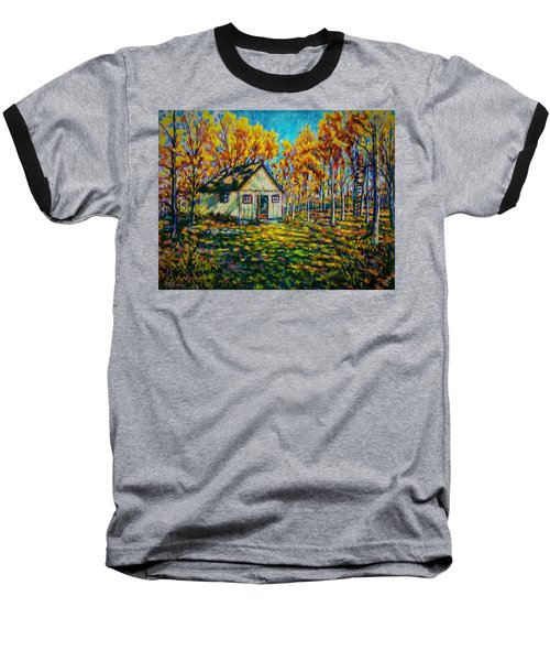 Autumn Cabin Trip Baseball T-Shirt