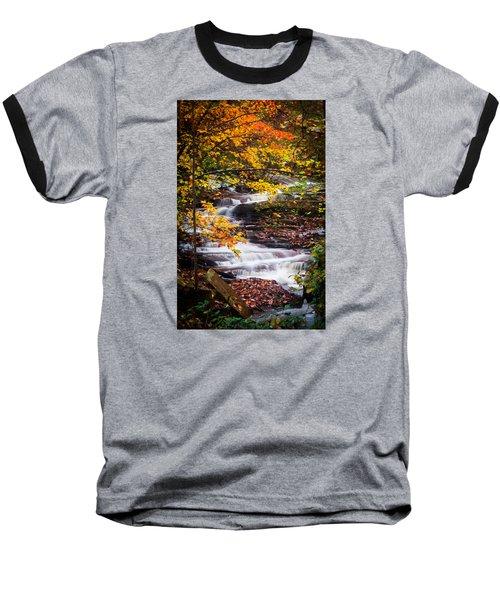 Autumn Cascade  Baseball T-Shirt by Parker Cunningham