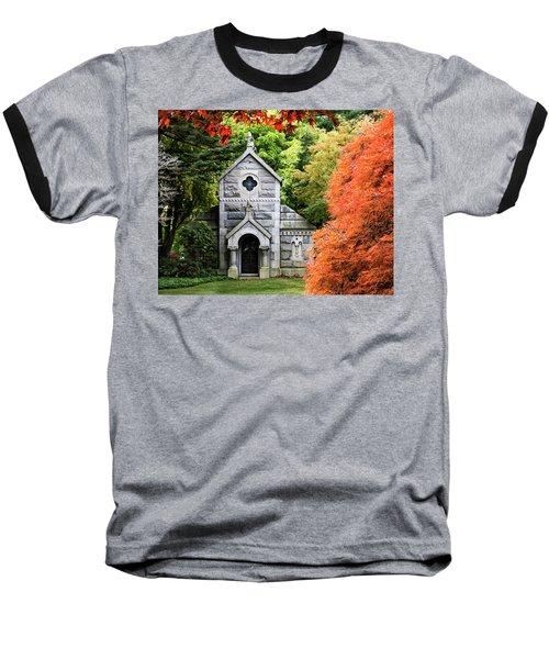 Autumn Chapel Baseball T-Shirt by Betty Denise