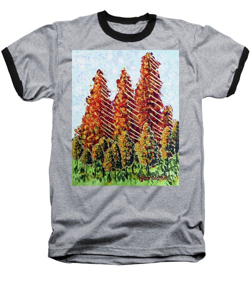Autumn Christmas Baseball T-Shirt