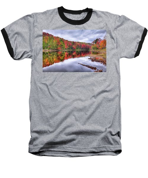 Baseball T-Shirt featuring the photograph Autumn Color At The Pond by David Patterson
