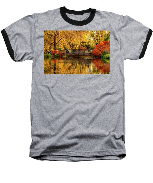 Autumn Color By The Pond Baseball T-Shirt