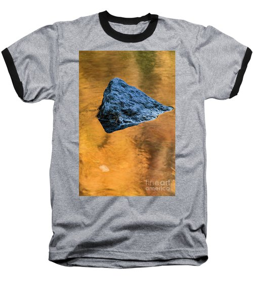 Baseball T-Shirt featuring the photograph Autumn Color On Little River - D009990 by Daniel Dempster