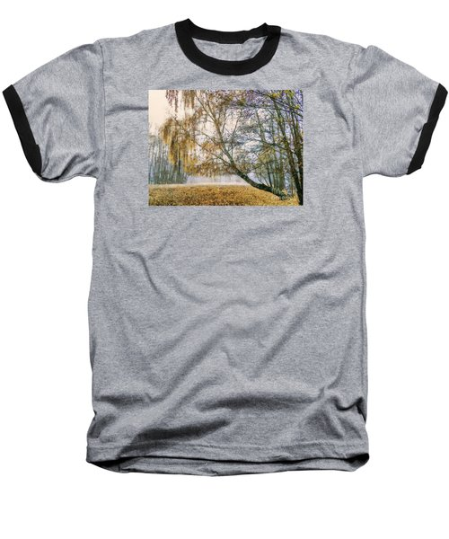 Autumn Colorful Birch Trees Paint Baseball T-Shirt by Odon Czintos
