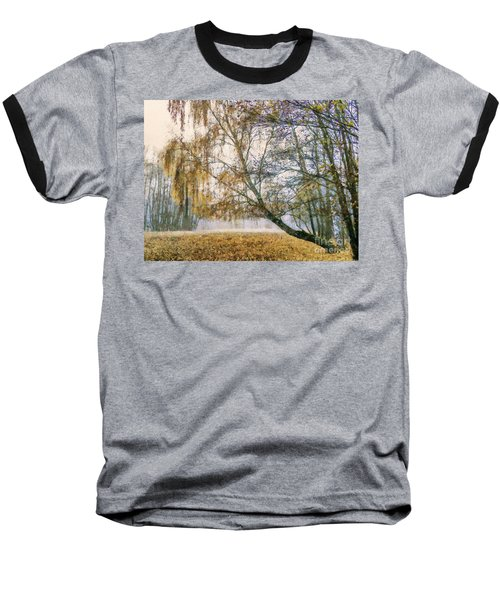 Autumn Colorful Birch Trees Paint Baseball T-Shirt