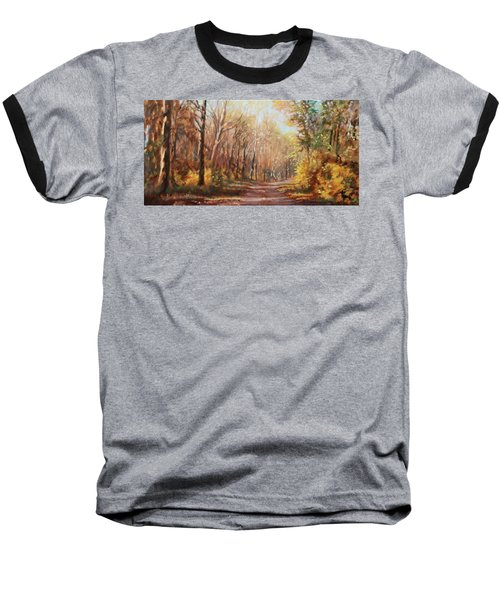 Autumn Colors Baseball T-Shirt by Bonnie Mason