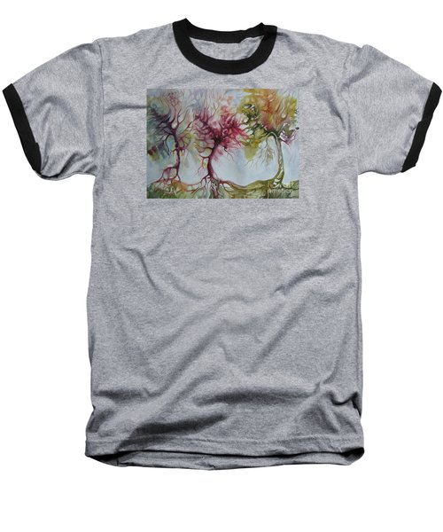 Baseball T-Shirt featuring the painting Autumn Colors by Elena Oleniuc