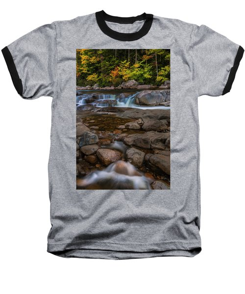 Baseball T-Shirt featuring the photograph Autumn Colors In White Mountains New Hampshire by Ranjay Mitra