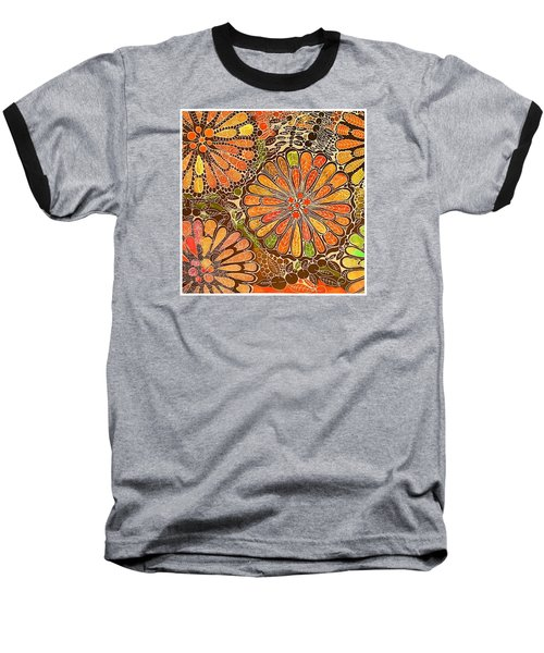 Autumn  Colors Mandalas  Baseball T-Shirt