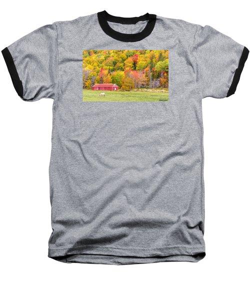 Autumn Colors Near Lake Ainslie  Baseball T-Shirt by Ken Morris