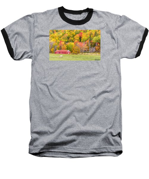 Autumn Colors Near Lake Ainslie  Baseball T-Shirt