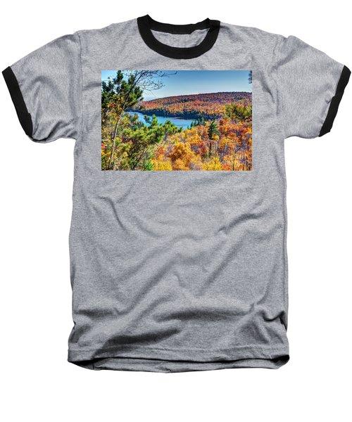 Autumn Colors Overlooking Lax Lake Tettegouche State Park II Baseball T-Shirt