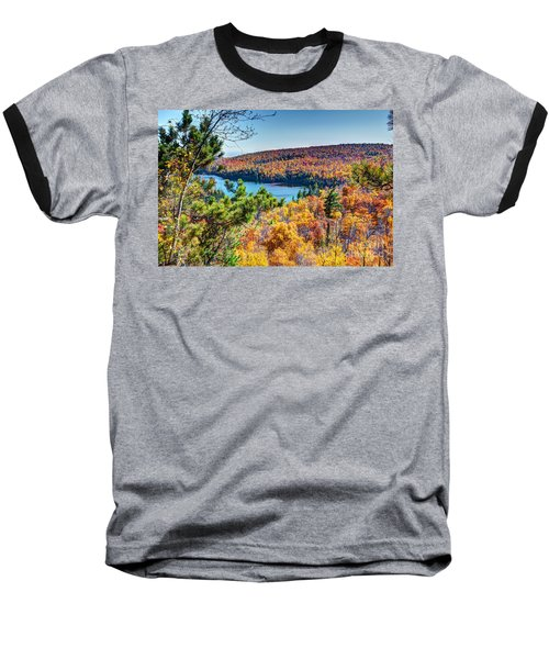 Autumn Colors Overlooking Lax Lake Tettegouche State Park II Baseball T-Shirt