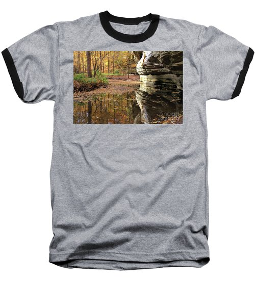 Autumn Comes To Illinois Canyon  Baseball T-Shirt