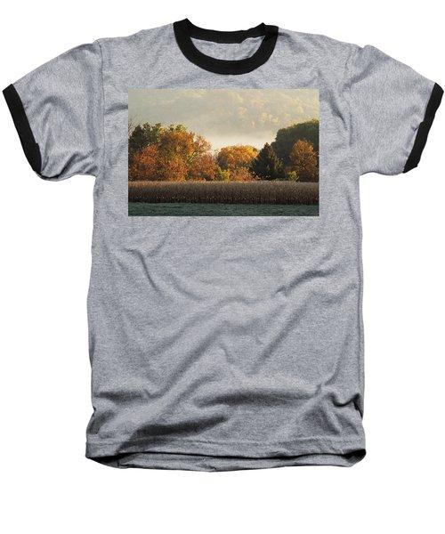 Autumn Cornfield Baseball T-Shirt