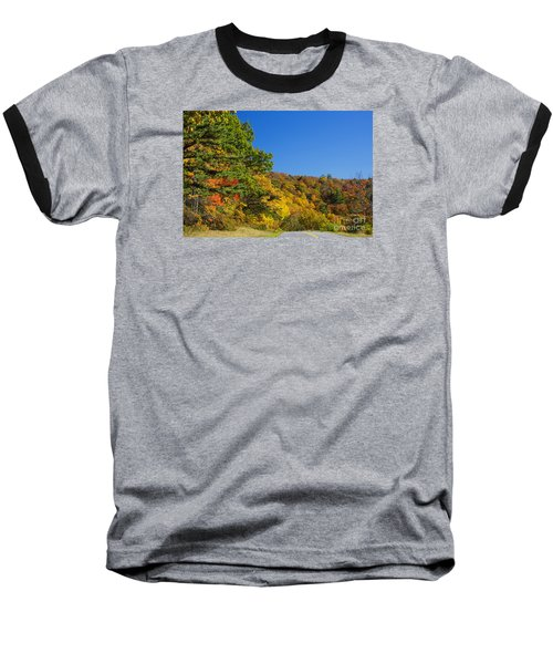 Autumn Country Roads Blue Ridge Parkway Baseball T-Shirt by Nature Scapes Fine Art