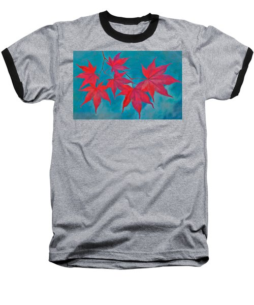 Autumn Crimson Baseball T-Shirt