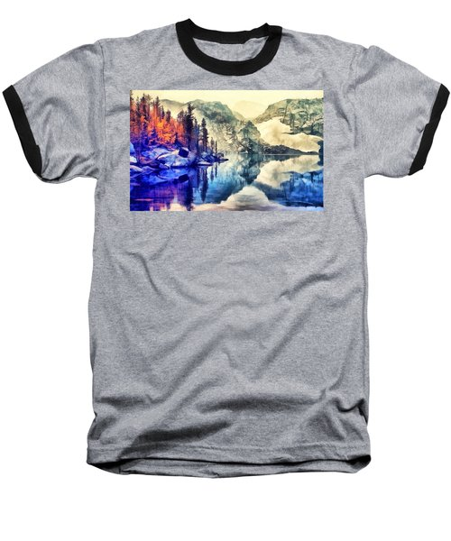 Autumn Day On The Lake. Baseball T-Shirt