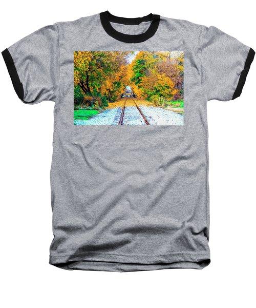 Baseball T-Shirt featuring the photograph Autumn Days by Jim Lepard