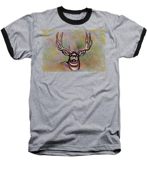 Autumn Deer Abstract Baseball T-Shirt