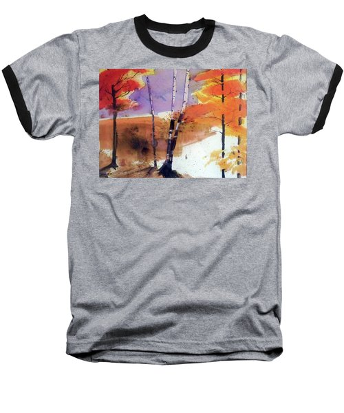 Baseball T-Shirt featuring the painting Autumn by Ed Heaton