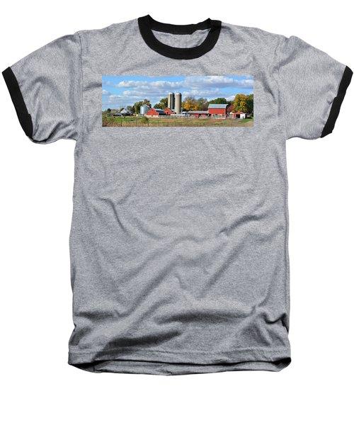 Autumn Elk Farm Baseball T-Shirt by Bonfire Photography