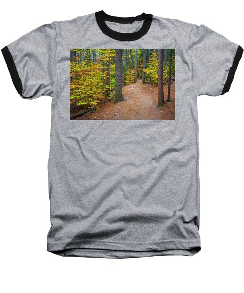 Baseball T-Shirt featuring the photograph Autumn Fall Foliage In New England by Ranjay Mitra