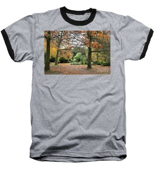 Autumn Fall Baseball T-Shirt by Katy Mei