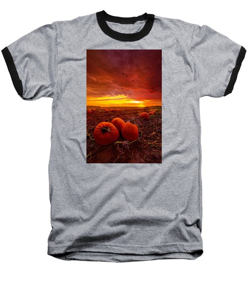 Autumn Falls Baseball T-Shirt by Phil Koch