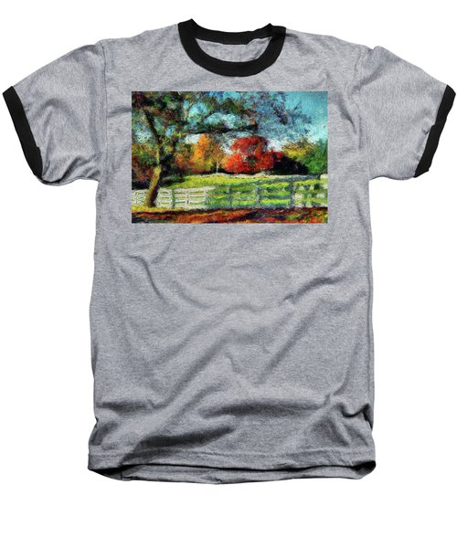 Autumn Field On The Farm Baseball T-Shirt