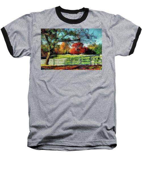 Autumn Field On The Farm Baseball T-Shirt
