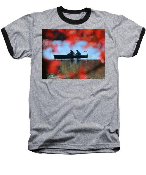 Autumn Fishing Smithtown New York Baseball T-Shirt by Bob Savage
