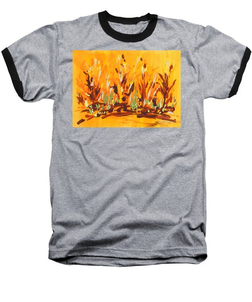 Baseball T-Shirt featuring the painting Autumn Garden by Holly Carmichael