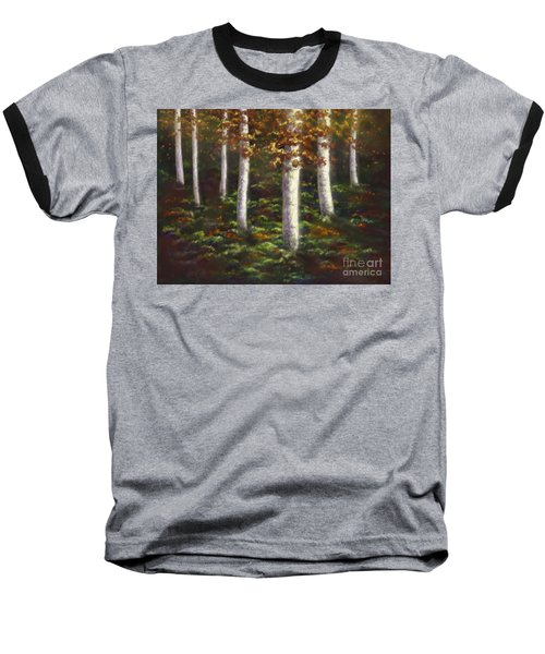 Baseball T-Shirt featuring the digital art Autumn Ghosts by Amyla Silverflame