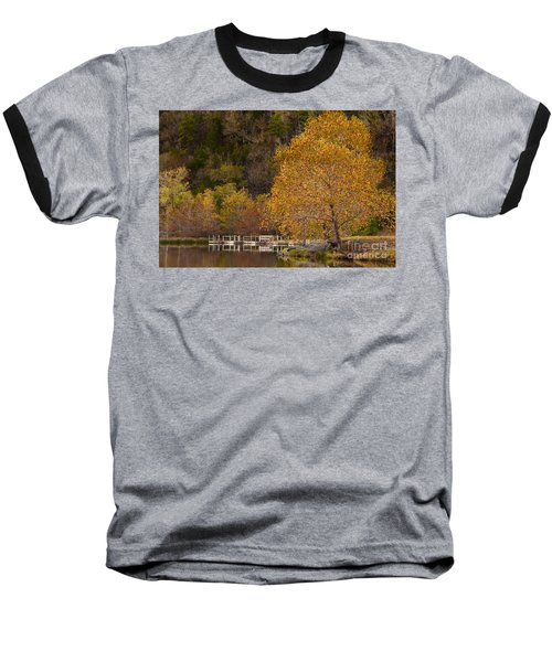 Baseball T-Shirt featuring the photograph Autumn Glory In Beaver's Bend by Tamyra Ayles