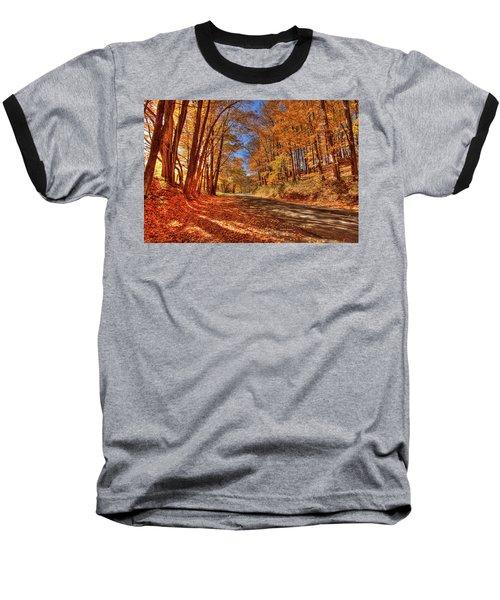 Autumn Glow Baseball T-Shirt by Dale R Carlson