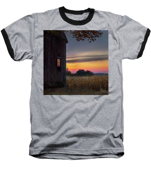 Baseball T-Shirt featuring the photograph Autumn Glow Square by Bill Wakeley