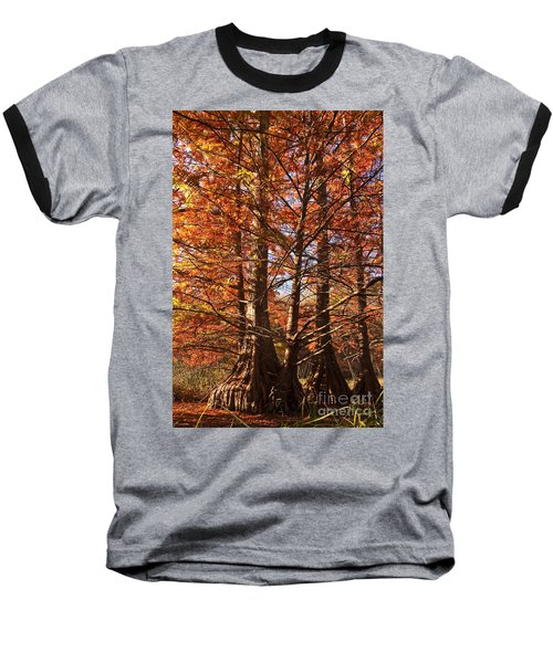 Baseball T-Shirt featuring the photograph Autumn Grandeur At Lake Murray by Tamyra Ayles