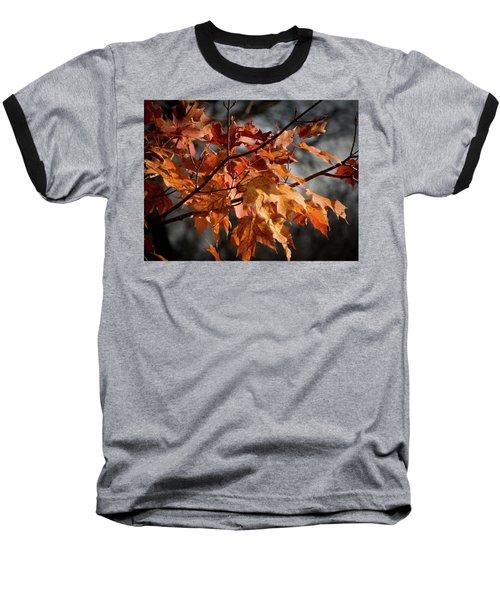 Baseball T-Shirt featuring the photograph Autumn Gray by Kimberly Mackowski
