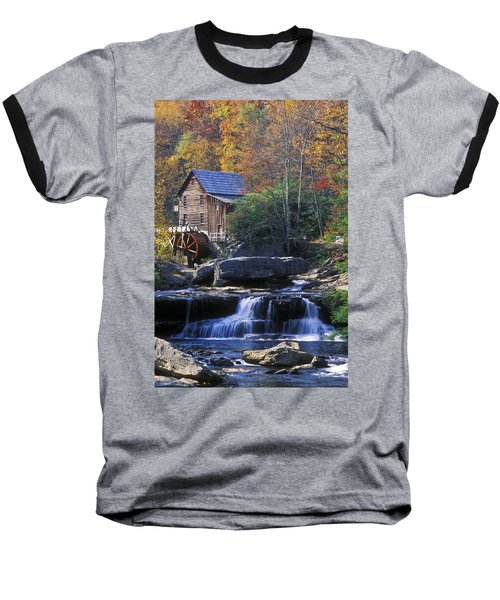 Autumn Grist Mill - Fs000141 Baseball T-Shirt by Daniel Dempster