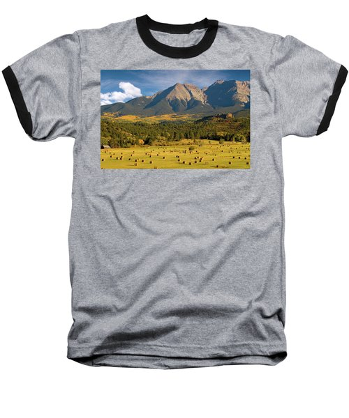 Autumn Hay In The Rockies Baseball T-Shirt