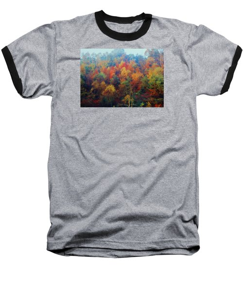 Autumn Hill Aglow Baseball T-Shirt by Diane Alexander
