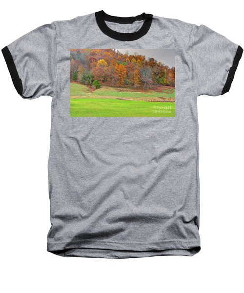 Autumn Hillside Baseball T-Shirt
